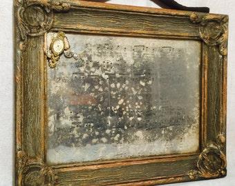 Antique Vintage Mercury Glass Mirror