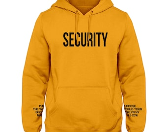 Justin Beiber Security Yellow Hoodie