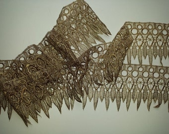 Pointy Fringe lace, Hand Dyed Lace