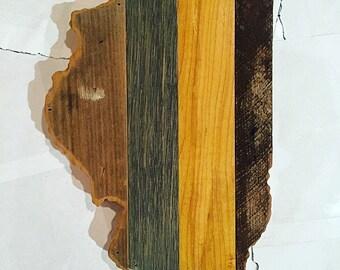 "16"" Illinois Reclaimed Wood Cutout - Wall Art"