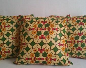 Decorative Pillows:   Africana