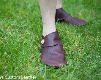 Leather Shoe slipper, Viking Medieval Turn Shoe, hand made, renaissance style footwear, Custom footwear, Outdoor footwear, comfort footwear