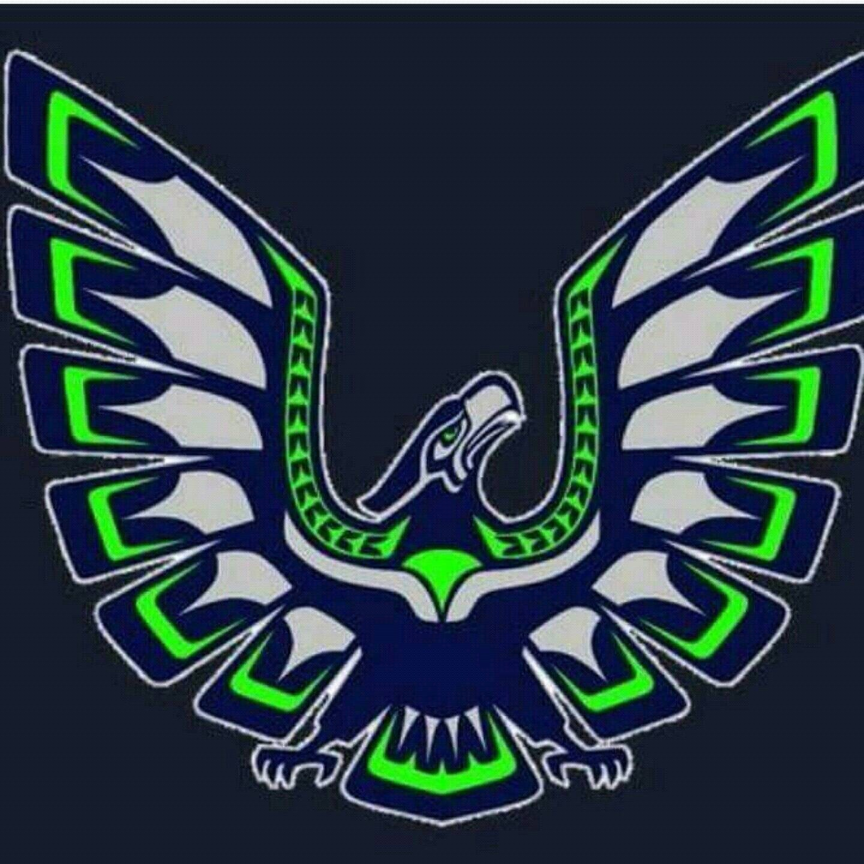 Native hawk seahawk tshirt for Seattle t shirt printing