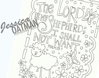 Faith Coloring Pages Bible Verse Art