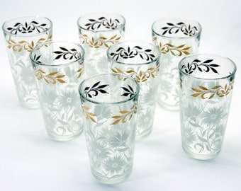 Mid Century (set of 7) Drinking Glasses