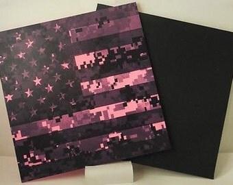 Pink digital American flag