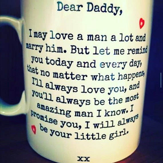 Handwritten fathers day mug, perfect as a fathers day gift from a daddies girl. Dishwasher safe, made using porcelain pens. Personalised.