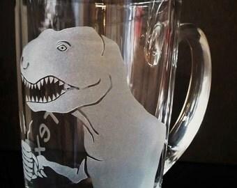 Glass Mug. Tea-Rex