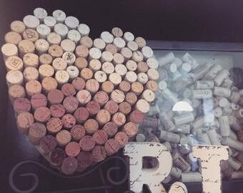 Repurposed wine corks - Heart Art