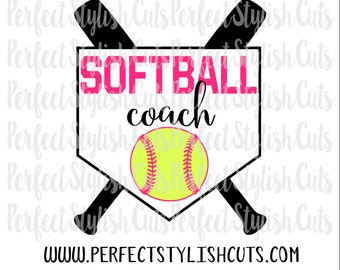 Softball Coach SVG, DXF, EPS, png Files for Cutting Machines Cameo or Cricut - Sports svg, Coach svg, Softball Svg