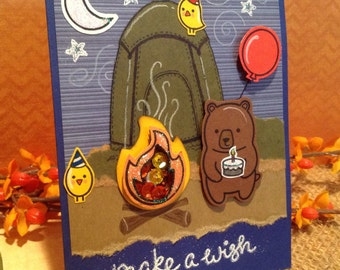 Camping Birthday Card, Tent Camping, Hiking, Backpacking
