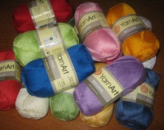 Yarn for knitting, yarn for crochet, cotton yarn, mercerized cotton, BEGONIA yarn art, summer yarn, yarn for sale, cotton yarn online