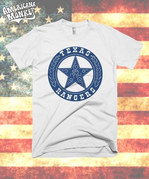 Texas rangers t shirt vintage tx rangers tee arlington tx for T shirt printing fort worth