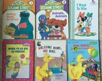 Sesame Street Vintage childrens Books!!  4 dollars Each OR 20 dollars ALL