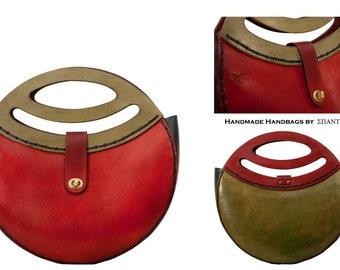 FULLMOON - All Leather Woman's Handmade Handbag