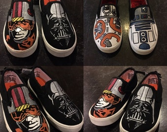 Custom Cartoon Shoes! Hand Painted!