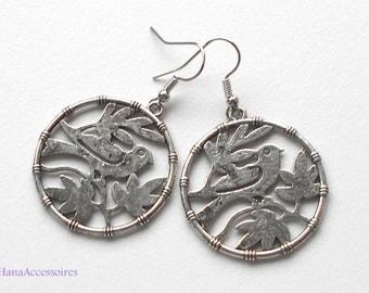 Earrings silver silver * birds * earrings