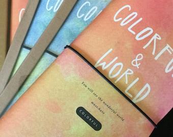 "Journal de voyage, Travel journal ""colorful & world"""