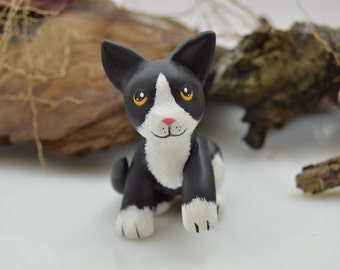 OOAK Handmade Polymer Clay Cat Sculpture