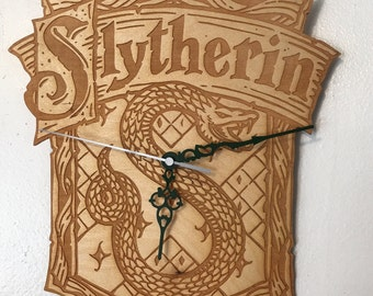 Slytherin House Inspired Clock