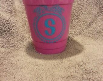 Monogram 16oz solo cup