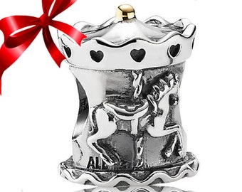 Authentic Genuine Pandora Carousel Charm-ALE S925 - Merry Go Round -791236