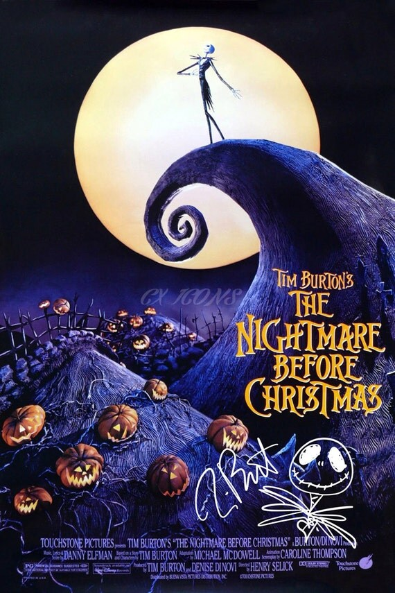 The nightmare before christmas Tim Burton signed photo by ...