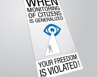 "Sticker "" Monitoring of citizens """