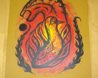 Aboriginal Abstract Oil Painting by Noah Sainnawap / Noah Brown