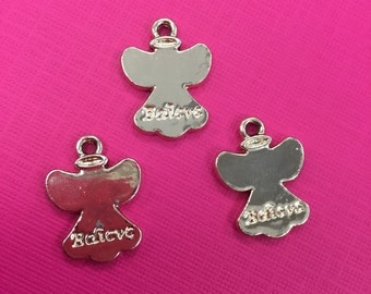 3 Angel Charms, Believe Angel Charm, Angel Charms, Angel Pendant, Angel Pendant,Believe Charm, Believe Charms,Believe Pendants,Angel Jewelry