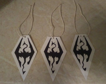 3 Skyrim inspired Labels/Tags (Handmade) REDUCED