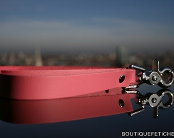 Try our Pink BDSM leash in leather