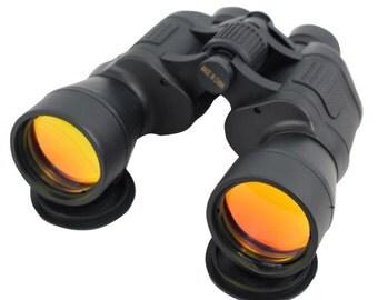 Perrini 20x50 High Resolution Outdoor Ruby Coated Wholesale Binoculars Black