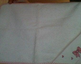Little Girl Burp Cloth