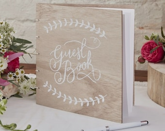The wooden cover guestbook