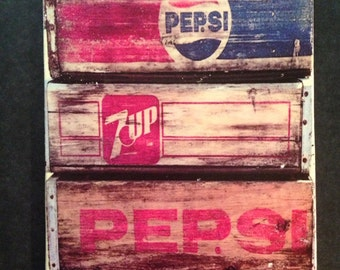 LARGE Canvas Transfer Soda Crate