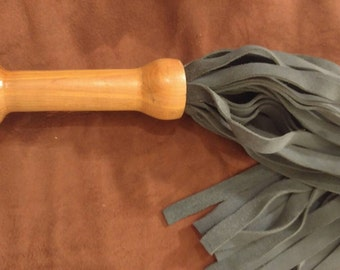 Suede and Cedar Handcrafted Flogger