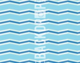 Large Photography Backdrop - Skinny Blue Chevron - 5'x5', 5'x6', 5'x7', 5'x10'