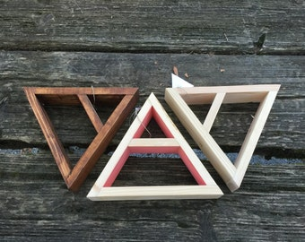 Medium Triangle Mountain Wooden Shelf Display