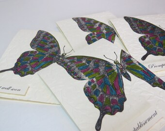 """Get Well Soon Card """"Swallowtail"""" English or French"""