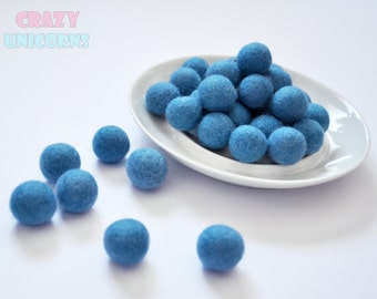 Wool felt ball х 50 Wool pom poms 2 cm DIY beads felt round Needle felting ball Needle felting bead Felted wool ball