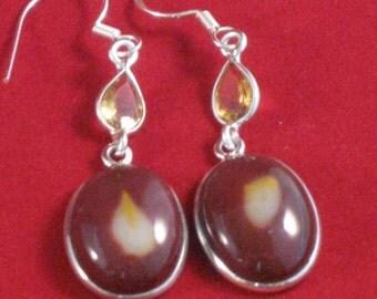 Sterling Mookaite Jasper earrings.