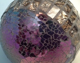 Purple.....blue, red blingy glass ball