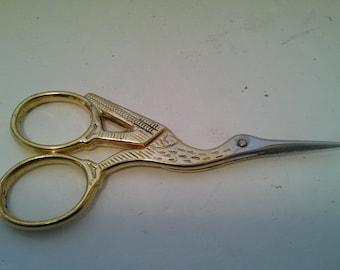 Gold tone bird scissors