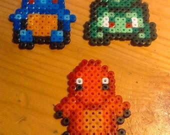Mini Pokemon Squirtle Charmander Bulbasaur Pixel Art beads mini Hama
