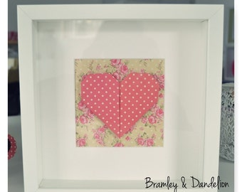Origami Heart in a Frame