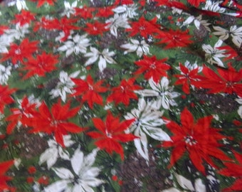 """Vintage 50""""s Christmas Round Tablecloth"""