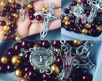 Arizona State University Handcrafted Rosary