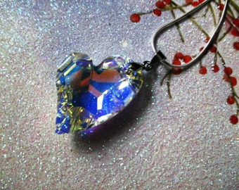 Swarovski Crystal Heart Pendant Swarovski Crystal Pendant Crystal Necklace Swarovski Crystal Heart Necklace