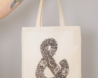 Floral Ampersand Tote